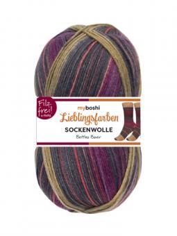 Lieblingsfarben Sockenwolle-VE= 5x100gr- 7143 Bettina