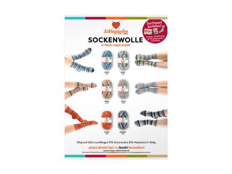 Farbkarte Lieblingsfarben Sockenwolle