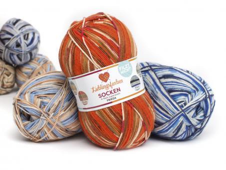 Lieblingsfarben Sockenwolle - alle 6 Farben einzeln bestellen