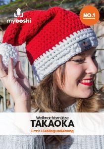 Flyer mit Gratisanleitung myboshi Weihnachtsmütze Takaoka